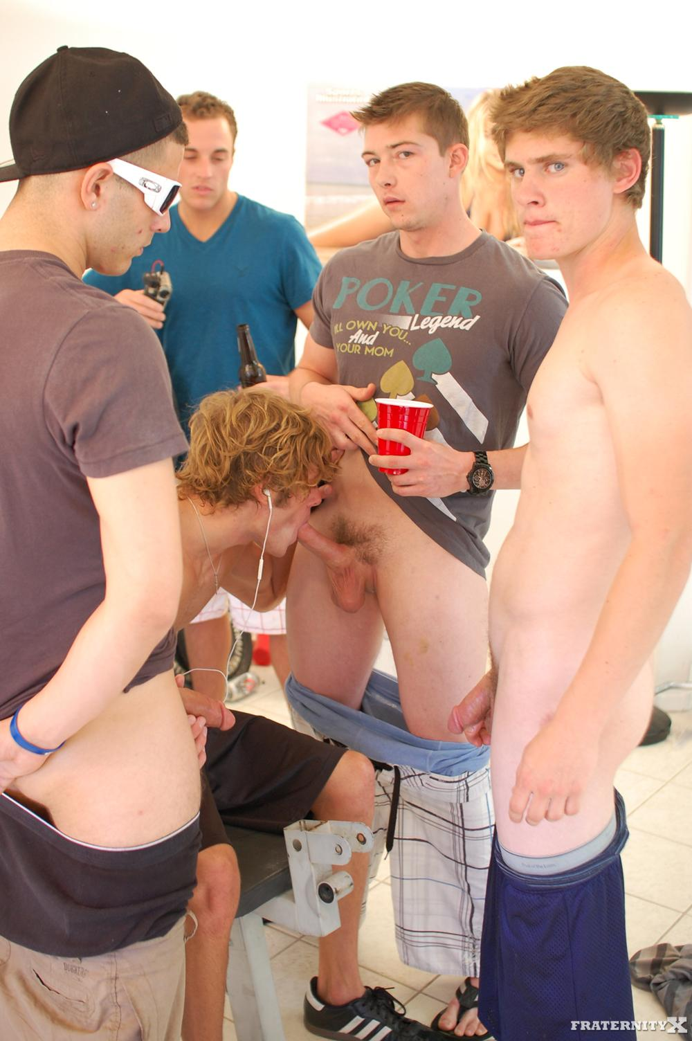 Fraternity X Cum Dump Frat Guys Fucking Bareback Amateur Gay Porn 07 Real Fraternity Brothers Finger Bang and Bareback A Pledge