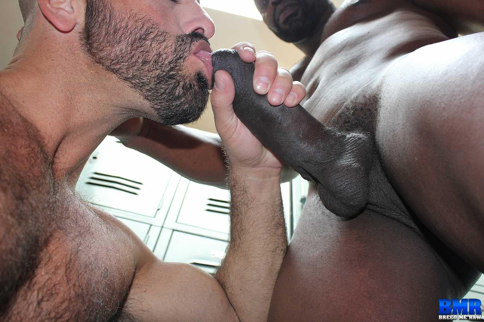 gay guy takes two black dicks