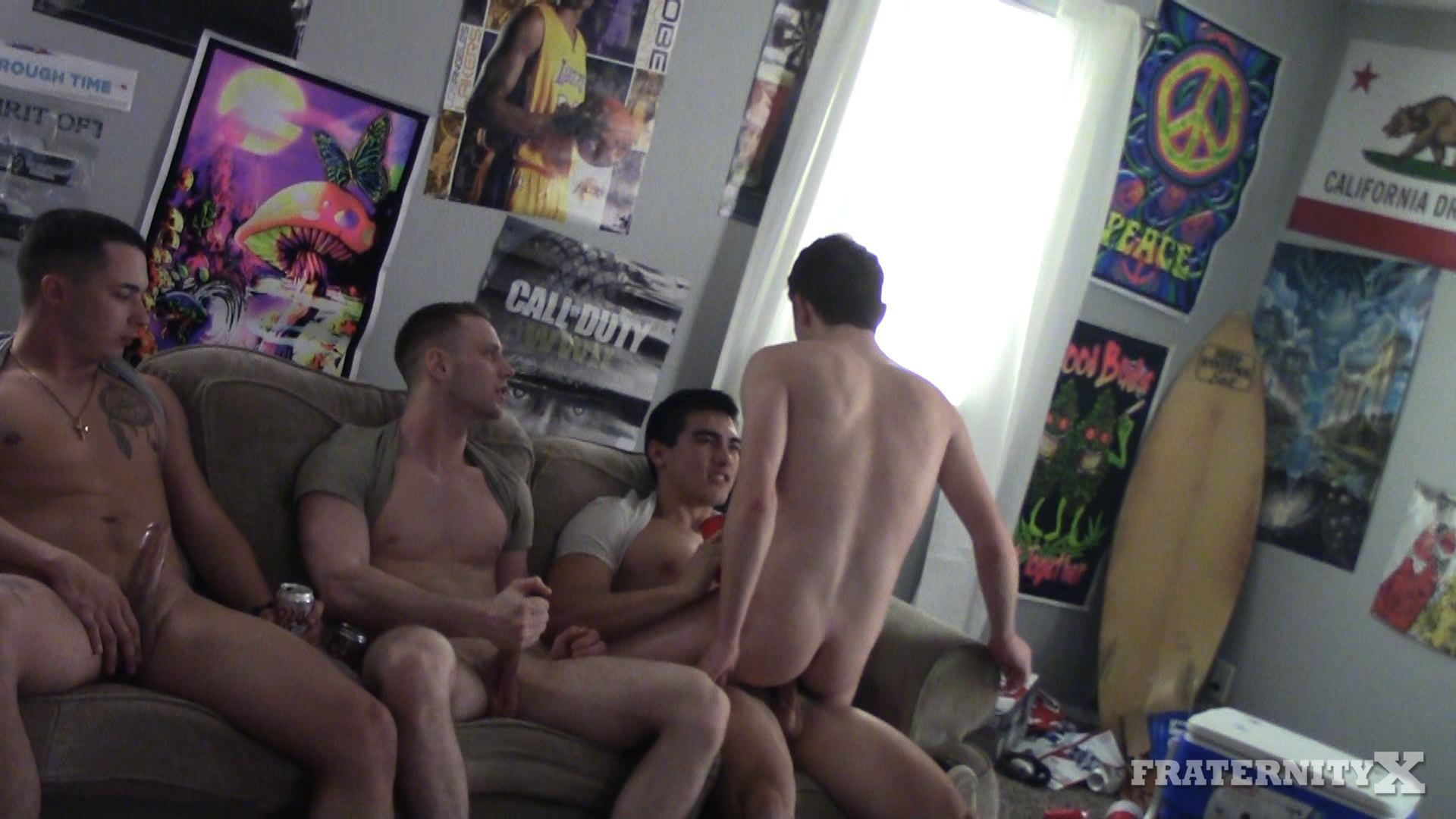 Fraternity-X-Naked-Frat-Guys-Bareback-Gang-Bang-Sex-Video-05 Visitor To The Fraternity House Gets Several Big Raw Dicks Up The Ass